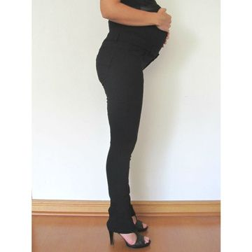Pantalón Maternal Pitillo Tamara (Negro) Madremia