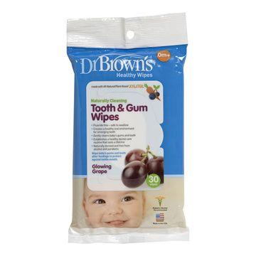 Toallitas encías y dientes bebé (30 u.) Dr. Brown's