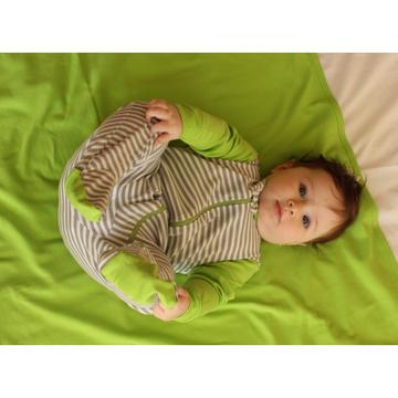 Pijama Osito (gris - verde lima) Martín Pescador