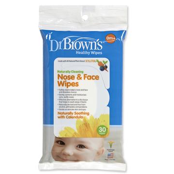 Toallitas limpieza cara y nariz (30 u.) Dr. Brown's