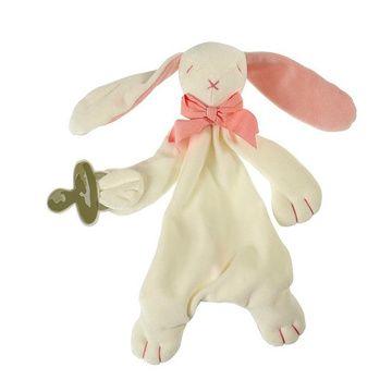 Tuto Porta Chupete Orgánico Algodón (Conejito rosado) Maud N Lil