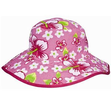 Gorro protección niños UV 50+ (Fucsia Flores) Kidz Banz