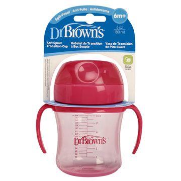 Vaso Antiderrame Boquilla suave (180 ml) Rosado Dr. Brown's