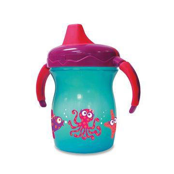 Vaso con mango Sip & Smile 200 ml Azul estrella Gerber