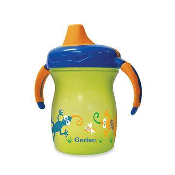 Vaso con mango Sip & Smile 200 ml Amarillo cocodrilo Gerber