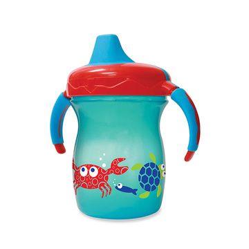 Vaso con mango Sip & Smile 200 ml Azul ballena Gerber