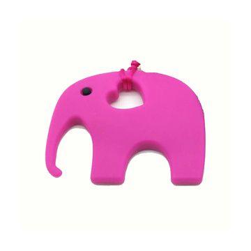 Collar masticable Elefante Fucsia Green Baby
