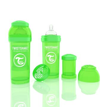 Mamadera Anti Cólico (260 ml) Verde Twistshake