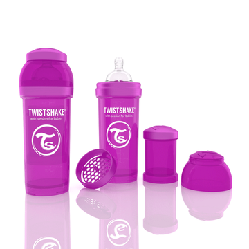 Mamadera Anti Cólico (260 ml) Morada Twistshake