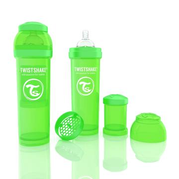Mamadera Anti Cólico (330 ml) Verde Twistshake