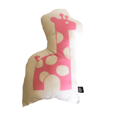 Cojín Animal Jirafa Rosada Flipa Kids por Carmen Orrego