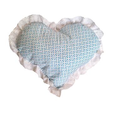 Cojín Corazón Azul Flipa Kids por Carmen Orrego