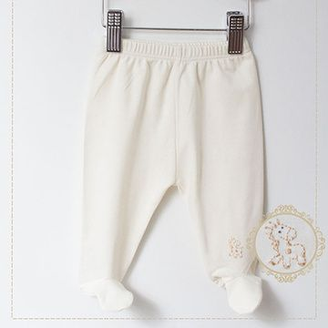 Pantalón Prematuro bordado a mano orgánico Lucky Baby