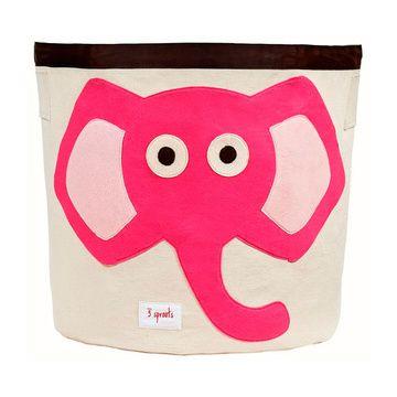 Canasto para juguetes Elefante Rosado 3 Sprouts