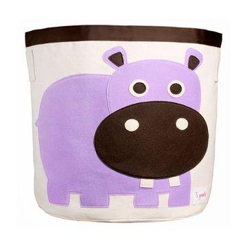 Canasto para juguetes Hipopótamo Morado 3 Sprouts
