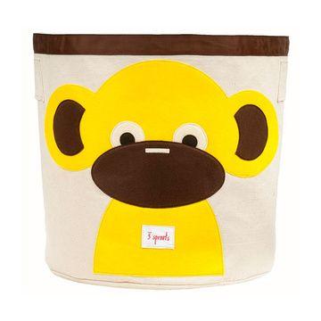Canasto para juguetes Mono Amarillo 3 Sprouts