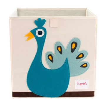 Caja para juguetes Pavo Real Azul 3 Sprouts