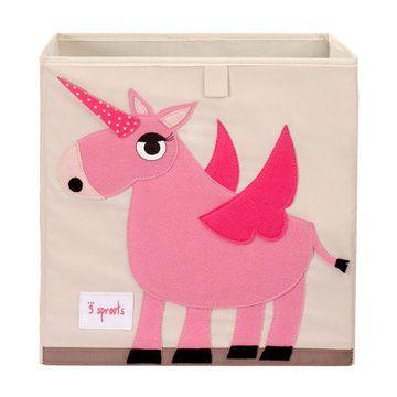 Caja para juguetes Unicornio Rosado 3 Sprouts