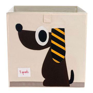 Caja para juguetes Perrito Café 3 Sprouts