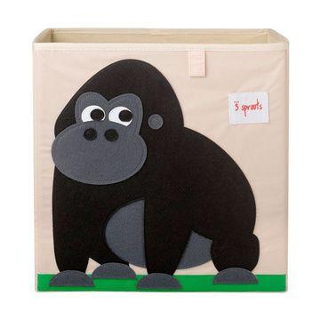 Caja para juguetes Gorila Negro 3 Sprouts