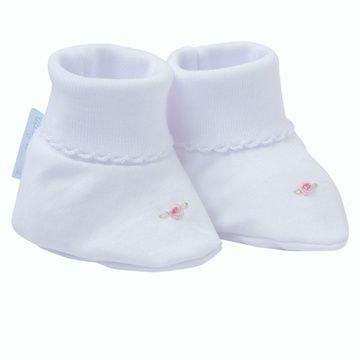 Zapatos niña recién nacida bordado a mano Lucky Baby