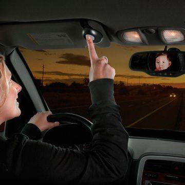 Espejo de seguridad para bebés con luz LED Diono