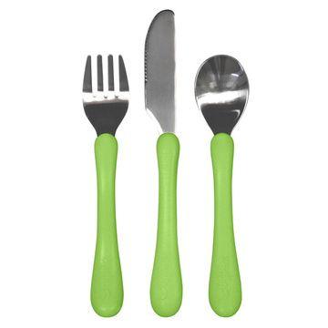 Cubiertos acero inoxidable (Verde) Green Sprouts