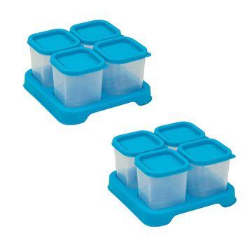 Envases Comida 120 ml (8 u) Azul Green Sprouts