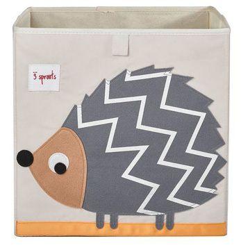 Caja para juguetes Puercoespín gris 3 Sprouts