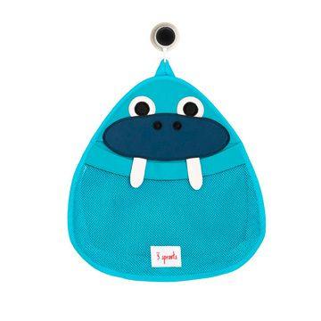 Organizador de baño Morsa azul 3 Sprouts