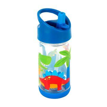 Botella con Bombilla (300 ml.) Flip Top Dino Stephen Joseph