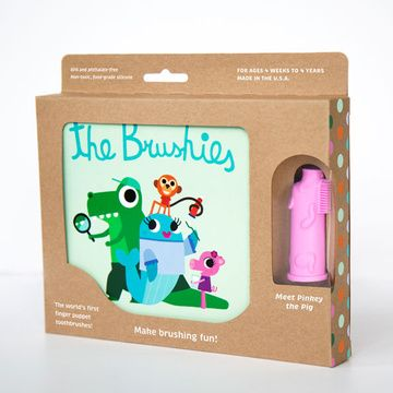 Cepillo de dientes Títere Pinkey y Libro The Brushies