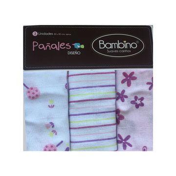 Pañales (3 u) Colors Niña Bambino