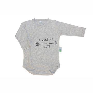 Body algodón pima orgánico (Gris - I Woke Up) Gea Organika