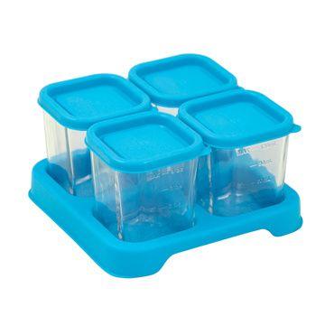 Envases Comida de Vidrio (4 u) Azul Green Sprouts