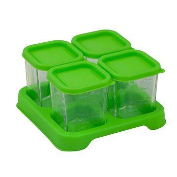 Envases Comida de Vidrio (4 u) Verde Green Sprouts