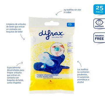 Toallitas higiénica para chupete (25 unidades) Difrax