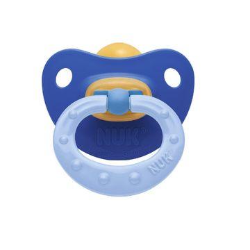 Chupete Látex Soft (18 a 36 meses) Celeste y azul Nuk