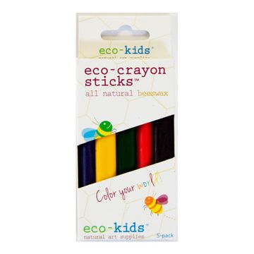 Eco-Crayones naturales (5 colores) Eco-kids