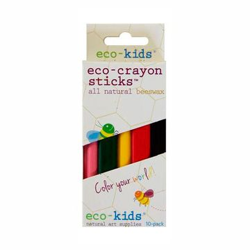 Eco-Crayones naturales (10 colores) Eco-kids