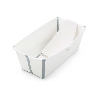 Pack Bañera plegable con Soporte Flexi Bath (White Grey) Stokke