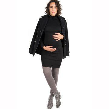 Mini Falda Maternal (Negro Textura) Madremía