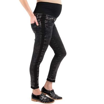 Jeans Maternal Cropped (Negro) Madremía