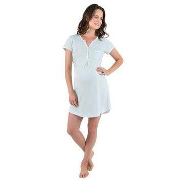 Camisa Dormir Maternal Adriana (Mandala Menta) Madremía