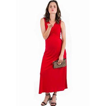 Vestido Lactancia Mariela (Rojo) Madremía