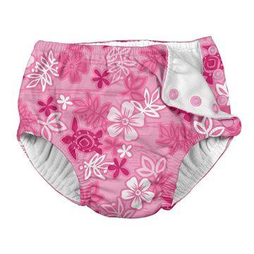 Traje de Baño con pañal Calzón (Hawai Rosa) Iplay