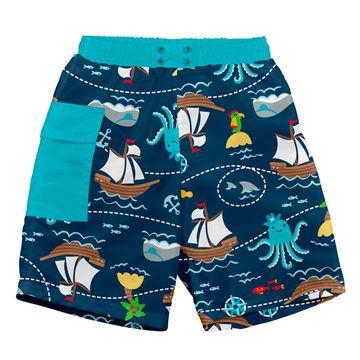Traje de Baño con Pañal Short (Pirata Azul) Iplay