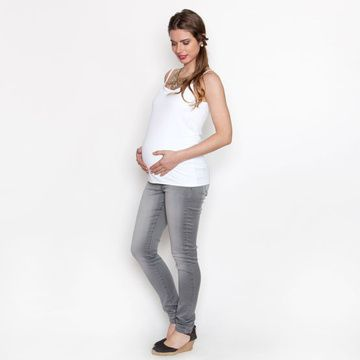 Polera Maternal Tiritas (Blanco) Nala Maternity