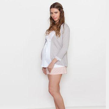 Mañanita Maternal de algodón (Gris) Nala Maternity