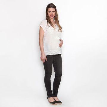 Jeans Maternal Pitillo Anita (Negro) Nala Maternity